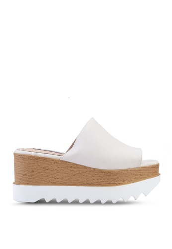 Nose white Platform Wedge Sandals 4A880SH925A306GS_1