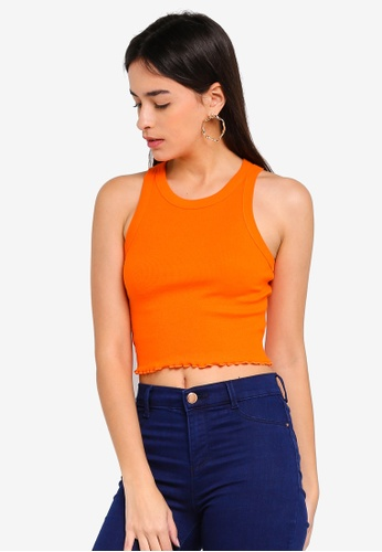 Factorie orange Rib Crop Tank E3AC5AA8469CA3GS_1