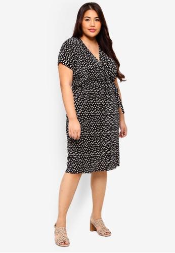 91b3e98d5b5 Buy Dorothy Perkins Plus Size Spot Plisse Wrap Dress Online