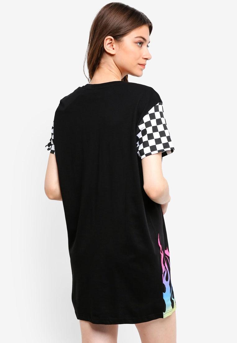 Dress Flames Factorie T shirt Gradient Black Zw5aSY8x