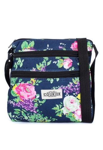 Courier blue Floral Sling Bag CO826AC48MLFPH_1