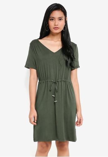 e6b021c7bf78 Buy Dorothy Perkins Khaki T-Shirt Dress Online on ZALORA Singapore