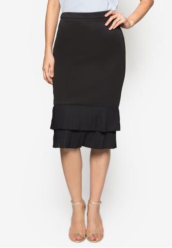 Collectionzalora 包包 ptt 層疊下擺及膝裙, 服飾, 及膝裙