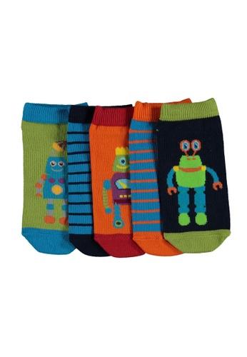 LC Waikiki multi 5-Pack Boy's Trainer Socks 50B6CKA7A54257GS_1