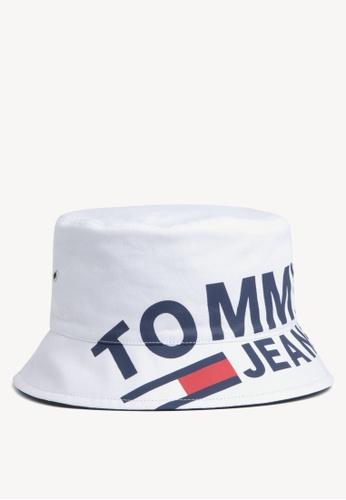 3040dd9229 Tommy Hilfiger white Tju Logo Bucket Hat 07094AC3B2CFE8GS 1