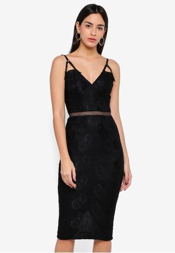 AX Paris black Eyelash Lace Midi Dress DB8ADAAACB5744GS_1