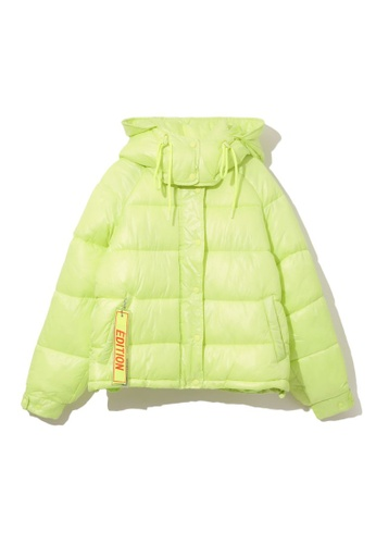 LOS ANGELES PROJECT -FASHION yellow ÉDITION hooded puffer jacket. B76DFAA6E5B979GS_1