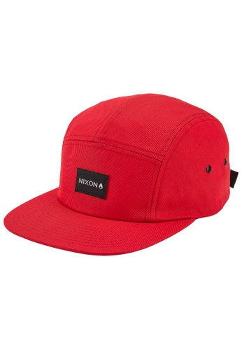 Nixon red Mikey Strapback Hat- Red (C2997200) 37D06ACD01F79CGS_1