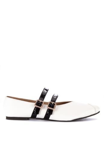 S&H black Nia Pointed Toe Flats 1FE6DSH9793AFFGS_1