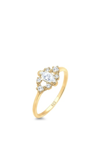 ELLI GERMANY gold Elli Germany Ring Glamorous Bandring Zirconia Crystals 925 Sterling Silver Gold Plated 2582CAC611CB7FGS_1