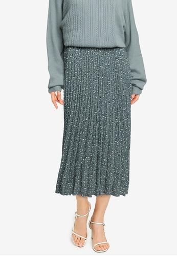 LOWRYS FARM green Pleated Skirt D9BD4AAB863974GS_1