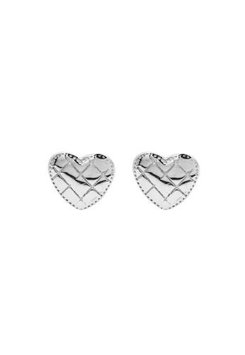 LYCKA silver LDR1258 S925 Silver Classic Heart Stud Earrings D9ACFACB05AAF1GS_1