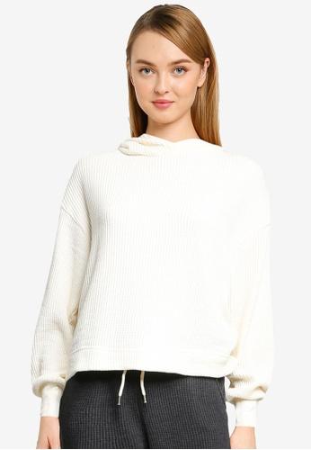 GAP 白色 Waffle Knitted Hoodie Sweatshirt D9DC7AAAF3EFC4GS_1