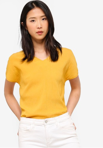 ZALORA BASICS yellow Basic Deep Neck Top 9FBC8AA5772958GS_1