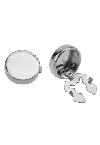 CUFF IT silver Silver Blank Button Cover Cufflinks BEDACACFF5B8C5GS_1