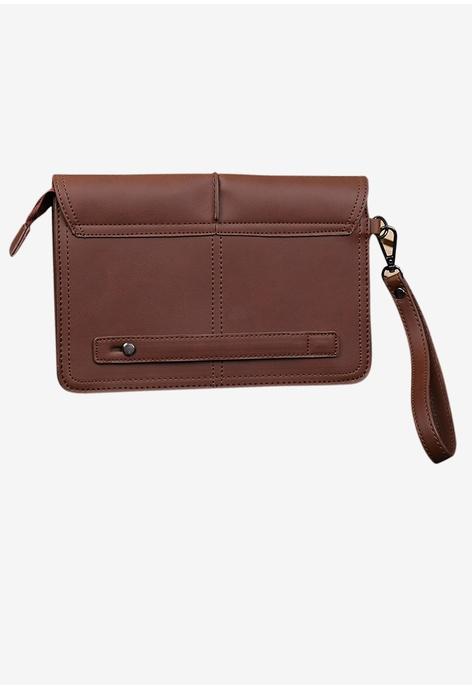 Lara Envelope Laptop Bags for Men - Brown
