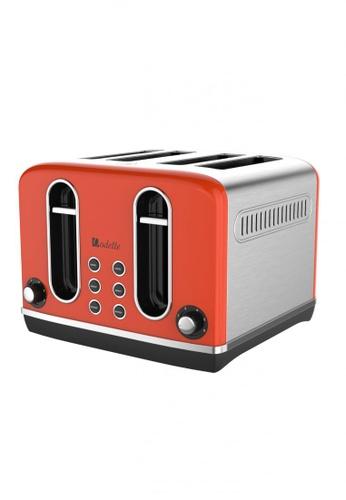 Odette orange Streamline Series 4-Slice Bread Toaster (Orange) B18EBHLA1288F9GS_1
