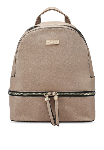 Unisa brown Saffiano Effect Backpack ED0F1AC2A90E25GS_1