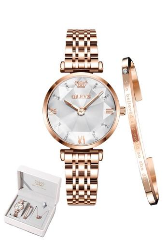 OLEVS white [Valentines Special]  Olevs Eonian Women Quartz Watch & Bracelet Set 2CBBFACD2D1F23GS_1