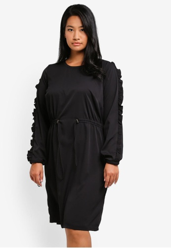 Junarose black Plus Size Engel Below Knee Dress JU731AA0ST1KMY_1