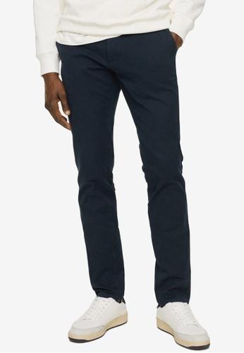 MANGO Man 藍色 Slim Fit Serge Chino Trousers AE1D3AA392FB91GS_1