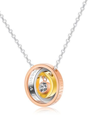 Trendyshop gold Interlock Pendant Necklace - Gold 3ADBBAC75377EBGS_1