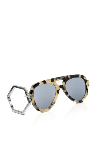 HEX EYEWEAR multi and beige and brown HEXETATE Eyewear Accessories Sunglasses Key Chain Glasses Key Chain BD751ACF1912CFGS_1