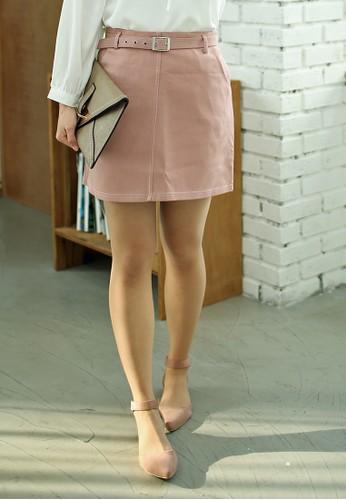 Hermosa 腰帶迷你短裙、 服飾、 裙子ShopsfashionHermosa腰帶迷你短裙最新折價