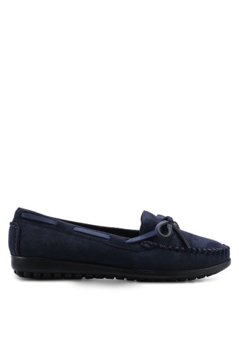 Louis Cuppers blue Round Toe Loafers BC224SHF610F81GS_1