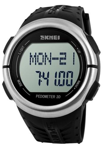 Digitec black Skmei - Pedometer - Heart Rate - Jam Tangan Pria - Black - Rubber Strap - 1058-C DI108AC79NPSID_1