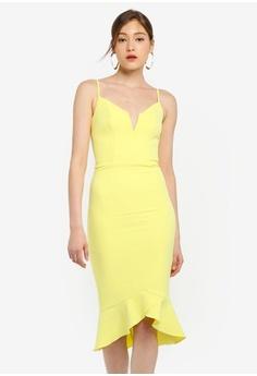 bcf7e3a7ff Bardot yellow Kristen Peplum Dress 9EE33AA9BB42DFGS 1