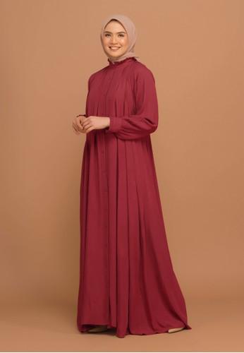 Tufine red Balqis Dress Maroon BC954AAD3E5D37GS_1