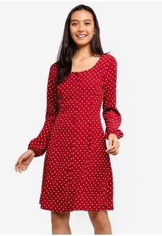 1c667055c4 Dorothy Perkins red Spot Button Tea Dress A26F3AAF3DE856GS 1