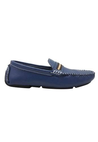 midzone blue SCORPION Leather Boat Shoes SC378SH94OTDMY_1