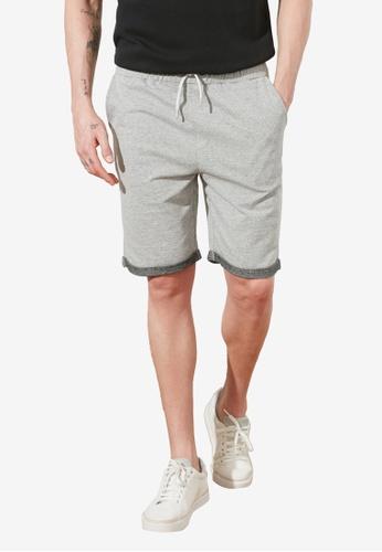 Trendyol grey Textured Shorts 21B70AA8C34185GS_1