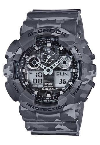 CASIO grey Casio G-Shock Grey Camo Resin Watch E9E66AC27071EAGS_1