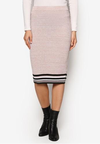 Petite 條紋滾邊及膝短裙、 服飾、 裙子NewLookPetite條紋滾邊及膝短裙最新折價