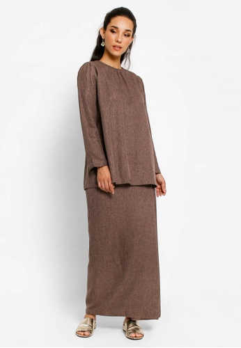 Kurung Lamia in Brown from BETTY HARDY in Brown