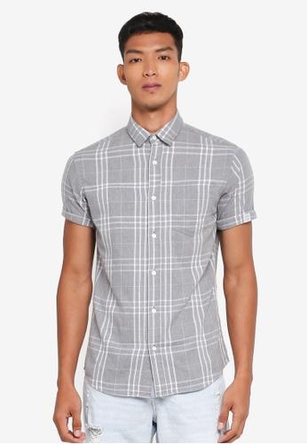 Jack & Jones grey Stanley Shirt 71D2EAA724899EGS_1