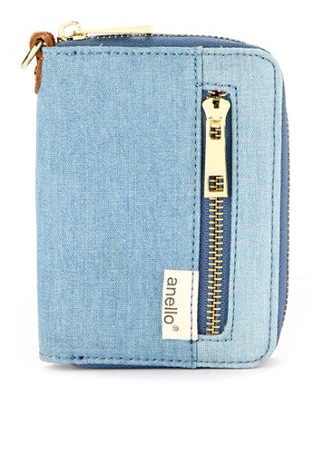 Anello blue Canvas Zip Round Wallet AN804AC0WBWUID_1