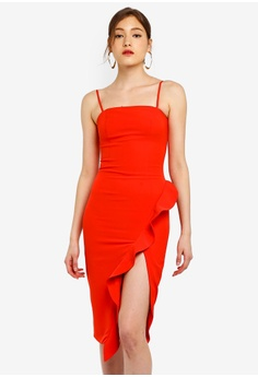 1577e70465 Bardot red Carmelle Midi Dress 7CDDBAA9EF267EGS 1