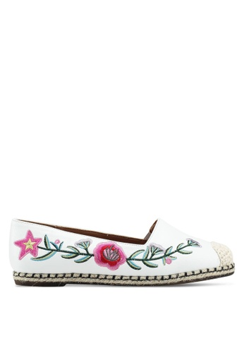 Something Borrowed white Floral Embroidered Espadrilles 00451SHD499896GS_1