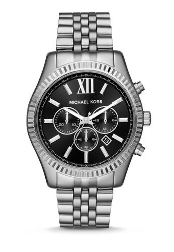 MICHAEL KORS silver Lexington Chronograph Watch MK8602 A205DAC3DF91B2GS_1