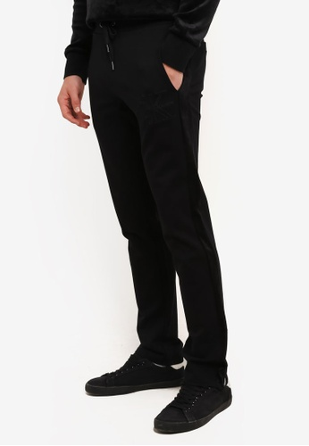 Calvin Klein black Ponte Track Pants - Calvin Klein Jeans CA221AA0S9C9MY_1