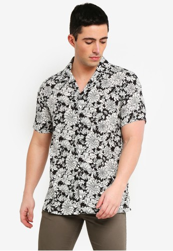 MANGO Man white Regular-Fit Floral Print Shirt 397C6AA626759BGS_1