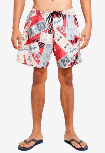Topman multi Dollar Print Swim Shorts 2D3F7USC22D01CGS_1