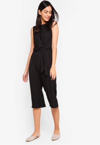 ZALORA black Sleeveless Straight Leg Playsuit 6E36BAA2065543GS_1