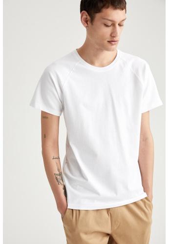 DeFacto white Short Sleeve Round Neck Basic T-Shirt FA37BAA155CD95GS_1