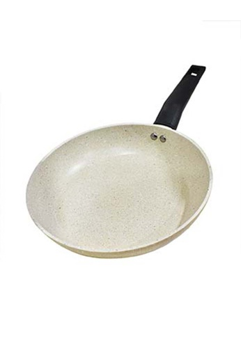 Slique white Forged Fry Pan Premium Marble Coating 28cm A6695HLA74AE7DGS_1