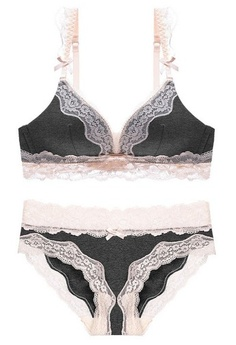 2adacacc66 LYCKA. LMM1003- Lady Sexy Lace Bra and Panty Set-Dark Grey